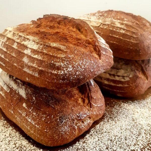 organic rye and spelt sourdough