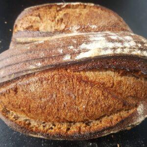 organic spelt and rye sourdough